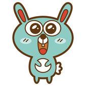 Funny rabbit — Stock Vector