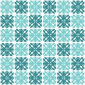 Geometric snowflakes — Stock Vector
