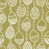 Outlines doodle Easter pattern — Stock Vector