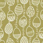 Outlines doodle Easter pattern — 图库矢量图片