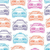 Colorful transportation pattern — Stock Vector