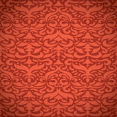 Red damask pattern. — Vettoriale Stock