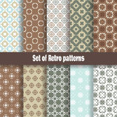 Retro pattern collection — Stock Vector