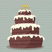 Narozeninový dort. — Stock vektor