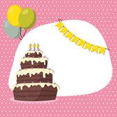 Birthday invitation card for girl. — Stock Vector