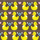 Funny ethnic simple ducks pattern . — Cтоковый вектор