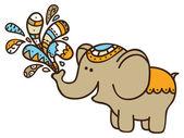 Cute doodle elephant. — Stock Vector