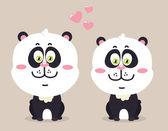 Cartoon pandas. — Stock Vector