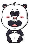 Kawaii panda bear. — Stock Vector