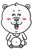 Kawaii white bear. — Stock vektor