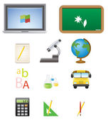 Web School Icons — Stock Vector
