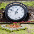 Clock in the park — Stock Photo