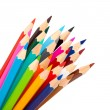 Color pencils as a bunch or bouquet - Stock Photo