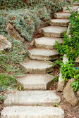 Steps up in the park — Stock fotografie