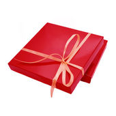 Red color box for chocolate candy, — Stock Photo