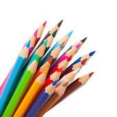 Rainbow many pencils — Stock Photo