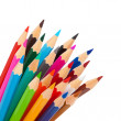 Rainbow many pencils — Stock Photo