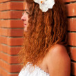 Profile of bride — Stock Photo
