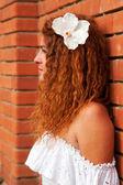 Profile of bride — Stock Photo