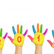 Children hands forming number 2013 — Stock Photo #14532761