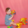 Baby learning colors and numbers — Stock Photo #14841631