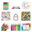 Set from office and school supplies — Stock Photo