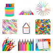 Set from office and school supplies — Stock Photo #15660159