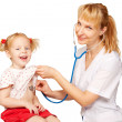 Stock Photo: Doctor and child