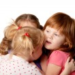 Three little girls sharing secrets. — Stockfoto #16314277