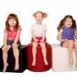 Happy little children sitting and laughing. — Stockfoto #16812269