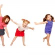 Happy little children dancing. Joyful party. — Stock Photo #17050911