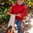 Stock Photo: Little child riding bicycle