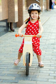 Little child riding bicycle — Stock Photo