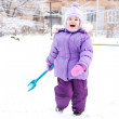 Child playing with snow — Stock Photo #18430917