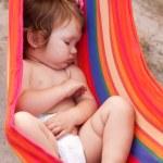 Baby sleeping sling as hammock — Stock Photo #18547723