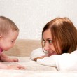 Mother and baby talking — Stock Photo #18826651