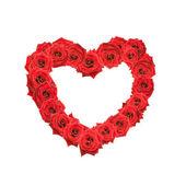 Corazón de rosas rojas de san valentín. — Foto de Stock