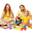 Happy father, mother and two children  — Foto Stock