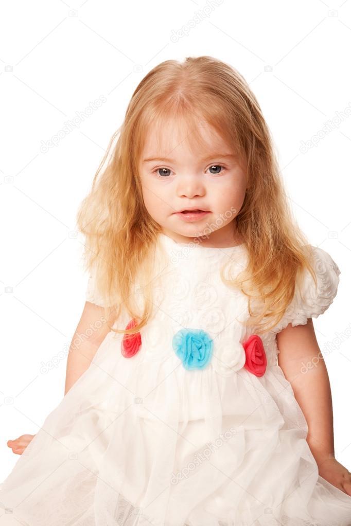 Vrij klein meisje met blond haar en blauwe ogen stockfoto vitalinka 21779895 - Foto slaapkamer klein meisje ...
