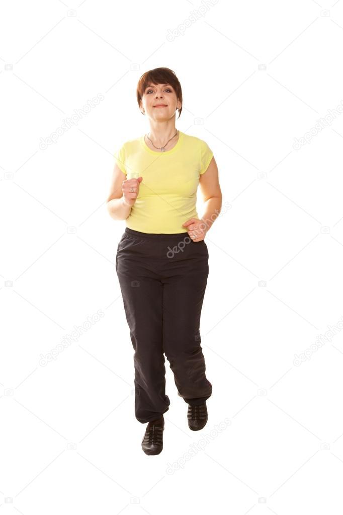 Adolescente de estilo de mujer de mediana edad