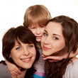 Happy family, mother and two daughters — Stock Photo #24954133
