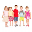 Funny group of little children holding hands — Stock Photo #29296283