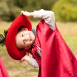 Happy boy in carnival costume musketeer — Stock Photo #29299839
