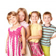 Стоковое фото: Group of little children playing and smiling.
