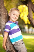 Happy blue-eyed little boy — Stock Photo