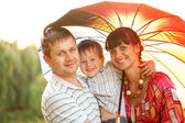 Happy family concept. Father, mother and son — Stock Photo