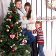 Happy family. Christmas, New Year, holiday concept. — Stock Photo