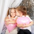 Little couple of kids kissing — Stock Photo #39889735
