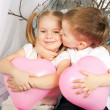 Little couple of kids hugging. Love concept. — Stock Photo
