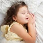 Sweet dreams. Happy smiling kid sleeping — Stock Photo #46642809